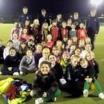 Year 3/4 girls football at Stoke