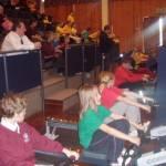 Dunstone and Pomphlett children enjoy rowing